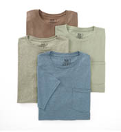 Fruit Of The Loom Assorted 100% Cotton Fashion Pocket Tee - 4 Pack 4P3001C